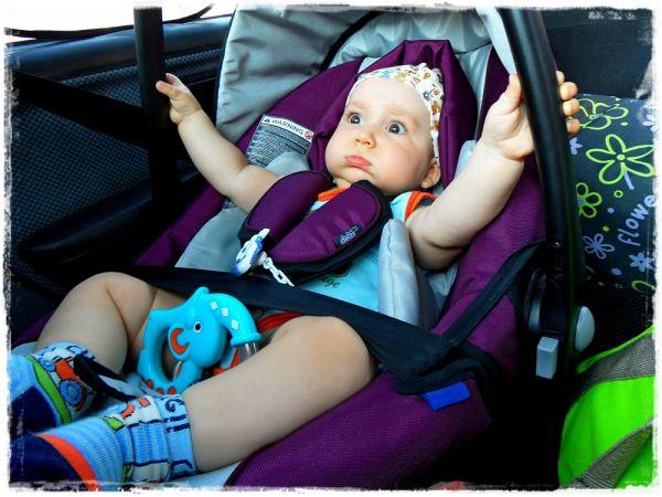 """W bezpiecznym foteliku nie boję się nawet szybkiej """"jazdy"""" ;)))"""