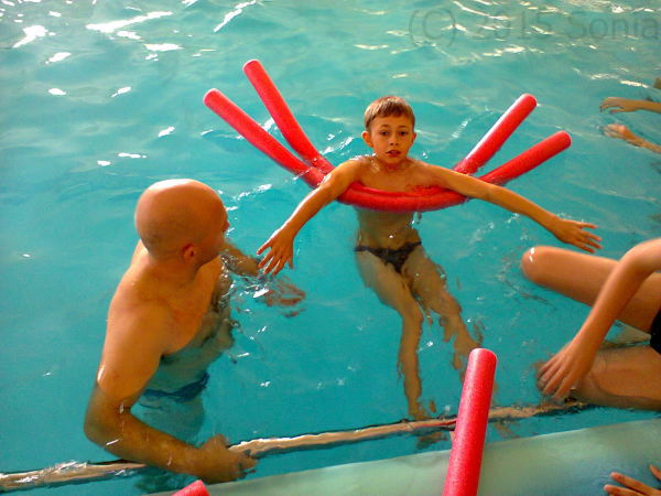 Nauka pływania.